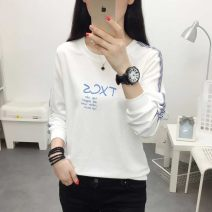 T-shirt M L XL 2XL 3XL Summer 2021 Long sleeves Crew neck easy Regular routine commute other 96% and above 18-24 years old Korean version originality letter dhini printing Other 100% Pure e-commerce (online only)