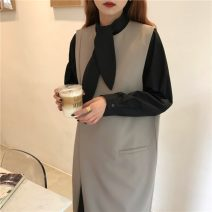 Fashion suit Autumn 2020 Average size Black vest skirt, apricot vest skirt, black shirt skirt, white shirt skirt 18-25 years old 31% (inclusive) - 50% (inclusive) polyester fiber