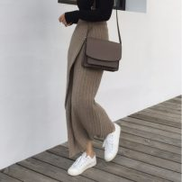 skirt Winter of 2019 Average size Black, oatmeal longuette Versatile Solid color 18-24 years old 30% and below Other / other acrylic fibres