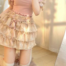 skirt Spring 2021 Average size Sparkling champagne gold spot, sparkling champagne gold pre-sale Short skirt Sweet High waist Cake skirt Solid color Type A FZ210310 51% (inclusive) - 70% (inclusive) other other Bow, ruffle, bright silk, fold, Auricularia auricula, lace, bandage, wave solar system