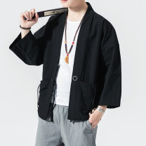 Jacket Other / other Youth fashion M,L,XL,2XL,3XL,4XL,5XL thin easy Other leisure summer Cotton 100% three quarter sleeve Wear out No collar Chinese style Large size routine 2021 Cloth hem Loose cuff Animal design Embroidery cotton More than 95%