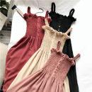 Dress Summer 2021 Apricot, pink, red, black, breast wrapped M,L,XL,2XL,3XL,4XL