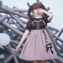 Lolita / soft girl / dress Cat ball line Love knot jsk L,M,S No season goods in stock Lolita, soft girl