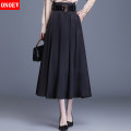 skirt Spring 2021 M/20 L/21 22/XL 23/2XL XXXL/24 XXXXL/25 Jy21623 black jy21623 champagne longuette commute High waist A-line skirt Solid color Type A 25-29 years old ON-JY21623 Onoev zipper