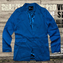 suit Autumn 2020 Off white, blue S / 160 standard or 160 high not thin, M / 165 standard or 160 high not thin, L / 170 standard or 165 high not thin Long sleeves Medium length Self cultivation A button commute