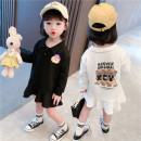 Dress Black, white female Tagkita / she and others 80cm,90cm,100cm,110cm,120cm,130cm Cotton 100% spring and autumn Korean version Long sleeves other other A-line skirt Class B 12 months, 6 months, 9 months, 18 months, 2 years old, 3 years old, 4 years old, 5 years old, 6 years old, 7 years old
