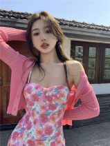 Fashion suit Summer 2021 S, M Floral skirt 730, sunscreen 7676 18-25 years old 30% and below