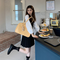 Fashion suit Spring 2021 Average size Shirt, pleated skirt 18-25 years old 30% and below cotton