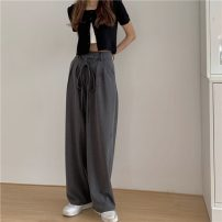 Casual pants Gray, black S, M Spring 2021 trousers Straight pants High waist commute routine 18-24 years old 30% and below Korean version