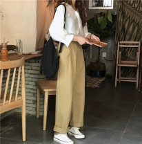 Casual pants White shirt 2080, casual pants 2069 S. M, l, average size Spring 2021 trousers loose  High waist commute routine 18-24 years old 30% and below other Korean version