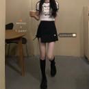 skirt Spring 2021 Separate shots Short T-shirt, black skirt s, Black Skirt M Short skirt commute High waist Irregular Solid color 18-24 years old 30% and below Korean version