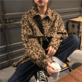 short coat Autumn 2020 Average size Leopard shirt Long sleeves routine routine singleton  easy commute routine Polo collar Single breasted Leopard Print 18-24 years old 31% (inclusive) - 50% (inclusive) Pocket, button