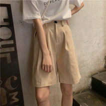 Casual pants Black, khaki, orange S,M,L Summer of 2019 Pant Wide leg pants High waist commute routine 18-24 years old Other / other Korean version