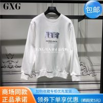 Sweater Youth fashion GXG white 165/S,170/M,175/L,180/XL,185/XXL other Socket routine Crew neck spring leisure time youth tide GC131599A Cotton 100%