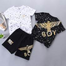 T-shirt summer motion There are models in the real shot nothing Cotton 95% polyamide (nylon) 5% Class A Sweat absorption neutral Xinduoyang 12 months, 18 months, 2 years old, 3 years old, 4 years old, 5 years old, 6 years old, 7 years old, 8 years old, 9 years old, 10 years old, 11 years old cotton