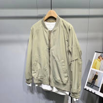 Jacket Other / other Fashion City Black, green M,L,XL,2XL routine standard go to work spring Long sleeves Wear out Baseball collar American leisure teenagers routine 2020 The appearance is loose and the inside is closed