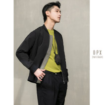 Jacket Other / other Fashion City Black, light green M,L,XL,2XL routine standard go to work spring Long sleeves Wear out Baseball collar American leisure youth routine Zipper placket 2020 Rib hem The appearance is loose and the inside is closed