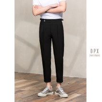 Casual pants Others Fashion City Black, white, blue 29,30,31,32,33,34 routine Ninth pants go to work Straight cylinder Micro bomb summer youth 2020