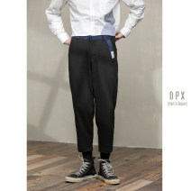 Casual pants Others Youth fashion Black, gray, khaki 29,30,31,32,33 routine Ninth pants go to work Straight cylinder Micro bomb spring youth Basic public 2020 middle-waisted Straight cylinder
