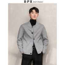 Jacket Other / other Fashion City Light grey, dark grey M,L,XL,2XL routine standard go to work winter Long sleeves stand collar youth routine Single breasted 2019 Cloth hem The appearance is loose and the inside is closed Solid color