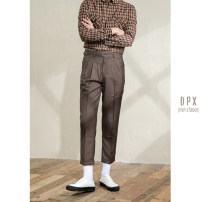 Casual pants Others Business gentleman Green, coffee 29,30,31,32,33,34,36 routine Ninth pants go to work Straight cylinder Micro bomb summer youth tide 2020 middle-waisted Straight cylinder