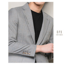 man 's suit Light grey, dark grey Others Business gentleman routine M,L,XL,2XL Self cultivation Double breasted go to work Double slit youth Long sleeves Business Casual Casual clothes Baling collar lattice 2020