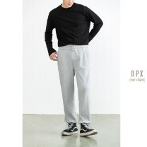 Casual pants Others Fashion City White, gray, black S,M,L,XL,2XL routine trousers Other leisure Self cultivation Micro bomb autumn youth Basic public 2020 middle-waisted Straight cylinder other Non brand