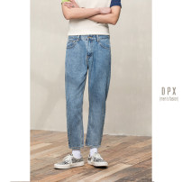 Jeans Fashion City Others 29,30,31,32,33,34 blue routine Micro bomb Ninth pants go to work summer middle-waisted 2020