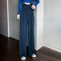Women's large Spring 2021 Light grey, black It is suggested that the size of the recommended size is 120-40kg, and it is recommended to use the size of 120-40kg trousers singleton  commute easy moderate Korean version 18-24 years old trousers