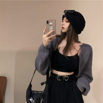 Women's large Winter 2020, autumn 2020 Suspenders, sweaters, pants It is suggested that the size of the recommended size is 120-40kg, and it is recommended to use the size of 120-40kg sweater Three piece set commute easy moderate Cardigan Long sleeves Korean version 18-24 years old trousers