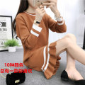 Wool knitwear Spring of 2019 M L XL Long sleeves singleton  Socket other More than 95% Medium length routine commute easy Low crew neck routine Solid color Socket Korean version 18-24 years old Yalianxiang Auricularia auricula splicing Other 100% Exclusive payment of tmall