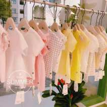 Dress female Other / other Cotton 90% other 10% other other other 6 months , 9 months , 18 months , 2 years old , 3 years old , 4 years old white 80cm,90cm,100cm,110cm,120cm