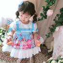 Dress wathet female Other / other 80cm,90cm,100cm,110cm,120cm Cotton 100% summer Europe and America Short sleeve Cartoon animation cotton Princess Dress SXSQ07# Class B 12 months, 18 months, 2 years old, 3 years old, 4 years old, 5 years old, 6 years old Chinese Mainland Guangdong Province