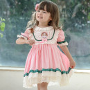 Dress Pink short sleeve , Pink Long Sleeve female Other / other 80cm,90cm,100cm,110cm,120cm,130cm Cotton 100% summer princess Short sleeve Solid color cotton Cake skirt 20QZ60 Class A 12 months, 18 months, 2 years old, 3 years old, 4 years old, 5 years old, 6 years old Chinese Mainland Foshan City