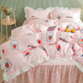 Bedding Set / four piece set / multi piece set cotton applique  Cartoon animation 133x72 DIAMAN cotton 4 pieces 40 Miffy Strawberry Garden by cactus animal paradise dream of love orange cat Meng Bao Bai Jie Rui happy song Meng Bao Huang Dora attached to sunflower coco grace Laurie Monza 100% cotton