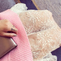 skirt Winter of 2018 Average size White, black Mid length dress Versatile High waist Solid color 30% and below Lace Lace