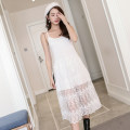 Dress Fall 2017 [long snowflake. White], [short snowflake. [white] S,M,L,XL singleton  Sleeveless commute Solid color camisole Korean version 30% and below other