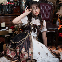 Lolita Dress [spot] heart of Lolita gear [s pre-sale, other spot] heart of Lolita gear with shirt [blue and red ribbon, please buy corresponding color, skirt comes with] L M S XL Customized You Wo Wo
