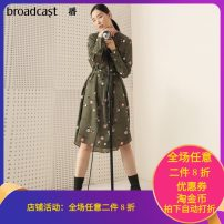 Dress Spring 2020 XS,S,M,L,XL Mid length dress Two piece set Long sleeves commute Crew neck Loose waist other Socket other shirt sleeve 25-29 years old Type A Broadcast / broadcast literature printing More than 95% other cotton