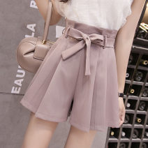Casual pants S,M,L,XL Spring 2021 shorts Wide leg pants High waist commute routine 18-24 years old 51% (inclusive) - 70% (inclusive) AT other Korean version