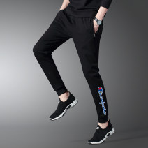 Casual pants Said the champion Fashion City M,L,XL,2XL,3XL,4XL,5XL routine trousers Other leisure Self cultivation High shot GJS0026 Four seasons youth Simplicity in Europe and America 2020 Medium low back Little feet Sports pants printing No iron treatment Alphanumeric Roman cloth other nylon