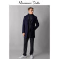 Jacket Massimo Dutti Fashion City blue 44 46 48 50 52 54 56 routine standard Other leisure 02409294401-23 Wool 97% Cashmere (cashmere) 3% Medium length Single breasted Winter of 2018 Same model in shopping mall (sold online and offline)