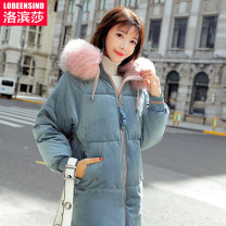 Cotton padded clothes M L XL XXL XXXL Winter of 2018 Silobend / enrosa have more cash than can be accounted for Long sleeves thickening zipper commute Hood raglan sleeve Straight cylinder Solid color Korean version 81% (inclusive) - 90% (inclusive) Cotton 81% - 90% 25-29 years old Polyester 100%