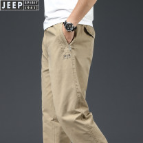 Casual pants Jeep / Jeep other thin trousers Other leisure easy No bullet J0831 spring youth American leisure 2021 middle-waisted Straight cylinder Cotton 100% Overalls Pocket decoration Spring 2021