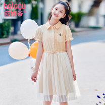 Dress Summer 2020 yellow XS S M L XL Mid length dress singleton  Short sleeve Sweet Polo collar High waist Socket A-line skirt Petal sleeve Others 18-24 years old Type A Barra Valley BLG20B1A80251 More than 95% cotton Cotton 100% college Pure e-commerce (online only)
