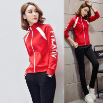 Casual suit Spring 2021 Red, yellow, red 9015, red piece, yellow piece M. L, XL, XXL, XXXL, 4XL, 5XL customized 25-35 years old Other / other 81% (inclusive) - 90% (inclusive)