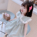 Dress Orange blue yellow purple female Bala rabbit 90cm 100cm 110cm 120cm 130cm Other 100% summer Korean version Long sleeves lattice Artificial colored cotton Cake skirt Summer 2020 12 months, 6 months, 9 months, 18 months, 2 years, 3 years, 4 years, 5 years, 6 years