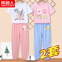 suit NGGGN 110cm 120cm 130cm 140cm 150cm 160cm 165cm female summer motion Short sleeve + pants 2 pieces routine There are models in the real shooting Socket nothing Cartoon animation Pure cotton (100% cotton content) NJRXP00203536 Class B Cotton 100% Spring 2021 Chinese Mainland