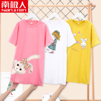 Dress female NGGGN 110cm 120cm 130cm 140cm 150cm 160cm 165cm Cotton 100% summer motion Short sleeve Cartoon animation cotton other NJRXPLKCT1 Class B Spring 2021 Chinese Mainland