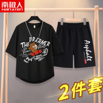 T-shirt NGGGN 110cm 120cm 130cm 140cm 150cm 160cm 165cm male summer Short sleeve Crew neck motion There are models in the real shooting nothing cotton printing Cotton 100% NJRXP000422 Class B Sweat absorption Spring 2021 Chinese Mainland